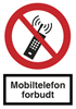 "PLASTSKILT ""MOBILTELEFON FOR-¤"