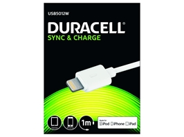 DURACELL IPHONE LIGHTNING KABEL 1 METER HVID